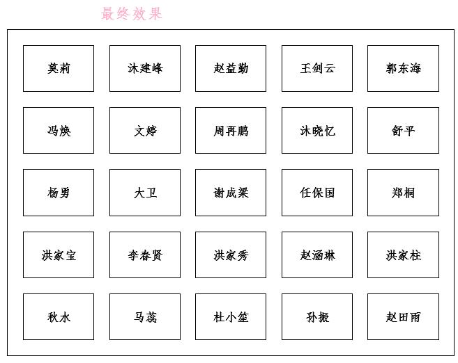 Word实例教程:巧用表格制作座次表!