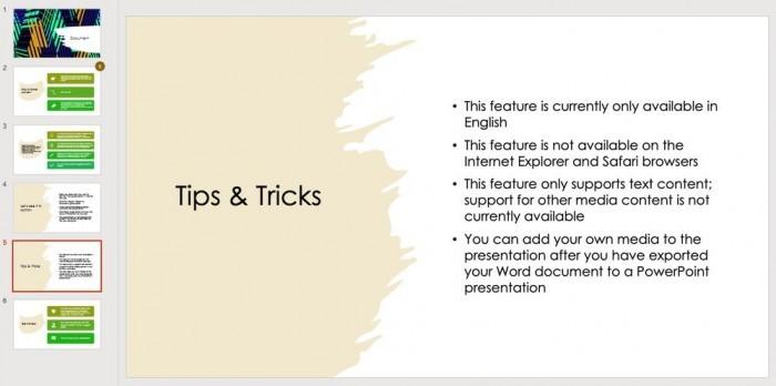 Word新增AI功能:可导出专业的PowerPoint演示文稿