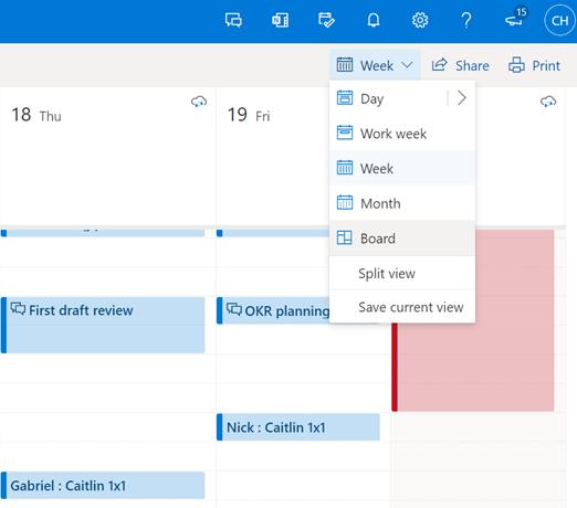 微软Outlook线上版和移动应用都将获得新的日历外观