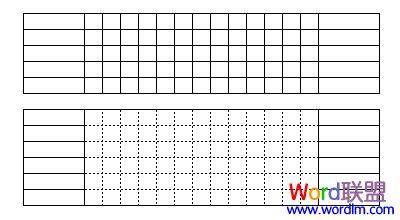 将小单元格的边线换成虚线