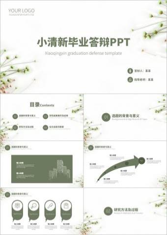 小清新答辩PPT